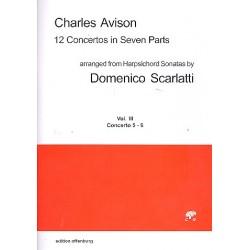 Avison, Charles: 12 Concertos in 7 Parts vol.3 (nos.5-6) : for 4 violins, viola, cello and Bc score