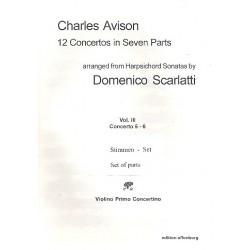 Avison, Charles: 12 Concertos in 7 Parts vol.3 (nos.5-6) : for 4 violins, viola, cello and Bc parts