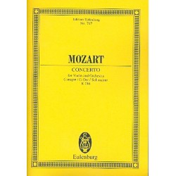 Mozart, Wolfgang Amadeus: Konzert G-Dur KV216 für Violine und Orchester Studienpartitur