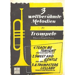 3 weltber├╝hmte Melodien : f├╝r Trompete und Klavier