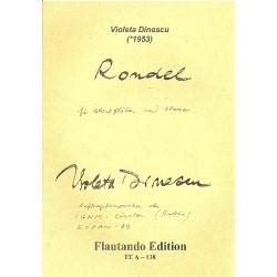 Dinescu, Violeta: Rondel : für 2 Blockflöten und Klavier Spielpartitur