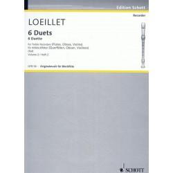 Loeillet de Gant, Jean Baptiste: 6 Duette Band 2 : für 2 Altblockflöten