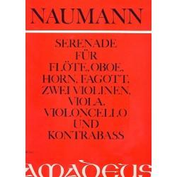 Naumann, Ernst: Serenade op.10 : für Flöte, Oboe, Fagott, 2 Violinen, Viola, Violoncello und Kontrabass Stimmen
