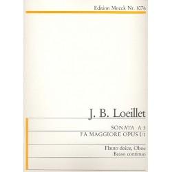 Loeillet, Jean Baptiste (John of London): Triosonate F-dur op.1,1 für Altblockflöte, Oboe und Bc