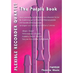 The purple Book : f├╝r 4-stimmiges Blockfl├Âten-Ensemble (SSAA) (Bass ad lib) Partitur und Stimmen