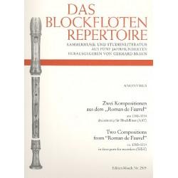 Anonymus: 2 Kompositionen aus den Roman de Fauvel für 3 Blockflöten (AAT)