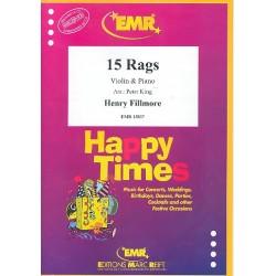 Fillmore, Henry: 15 Rags : für Violine und Klavier