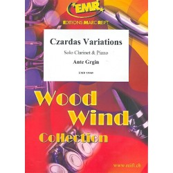 Grgin, Ante: Czardas-Variationen: für Klarinette und Klavier