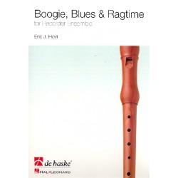 Hovi, Eric J.: Boogie Blues and Ragtime : f├╝r Blockfl├Âten-Ensemble (SAATB) Partitur und Stimmen