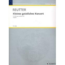 Reutter, Hermann: Kleines geistliches Konzert : für Alt und Viola Partitur