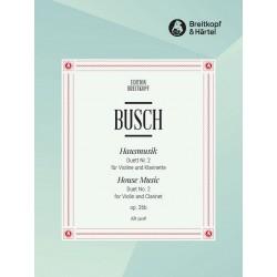 Busch, Adolf: Duett Nr.2 op.26,2 : für Violine und Klarinette Spielpartitur