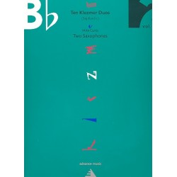 10 Klezmer Duos vol.2 : for 2 saxophones score