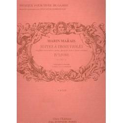 Marais, Marin: Suites à 3 violes vol.4 partition