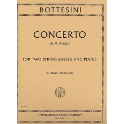 Bottesini, Giovanni: Concerto in A major for 2 string basses and piano parts