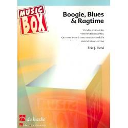 Hovi, Eric J.: Boogie Blues und Ragtime : für 5-stimmiges Bläser-Ensemble Partitur und Stimmen
