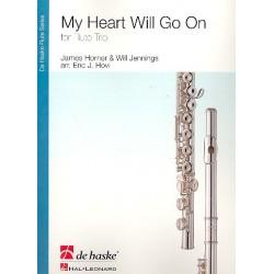 Horner, James: My Heart will go on : für 3 Flöten Partitur und Stimmen