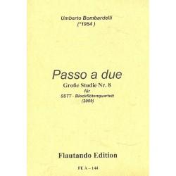 Bombardelli, Umberto: Passo a due : für 4 Blockflöten (SSTT) 4 Spielpartituren