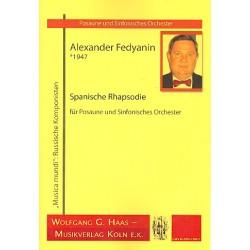 Fedyanin, Alexander: Spanische Rhapsodie für Posaune und Orchester Partitur
