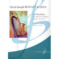 Lisle, Rouget de: La Marseillaise : pour 4 saxophones (SATBar) partition et parties