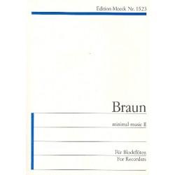 Braun, Gerhard: Minimal Music 2 : f├╝r einen Blockfl├Âtisten