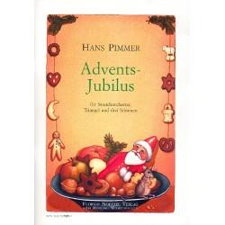 Pimmer, Hans: Advents-Jubilus : f├╝r gem Chor, Streichorchester und Triangel Partitur