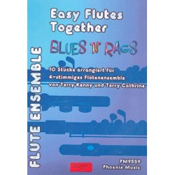 Blues 'n' Rags : f├╝r 4 Fl├Âten (Ensemble) Partitur und Stimmen