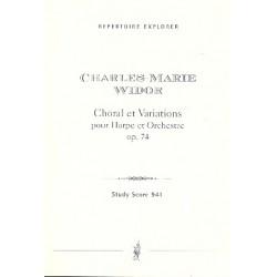 Widor, Charles Marie Jean Albert: Chorale et Variations op.74 : f├╝r Harfe und Orchester Studienpartitur