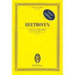 Beethoven, Ludwig van: Konzert D-Dur op.61 für Violine und Orchester Studienpartitur Neuausgabe 2010