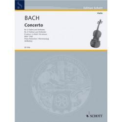 Bach, Johann Sebastian: Concerto d-moll für 2 Violinen und Orchester : für 2 Violinen und Klavier