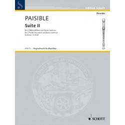 Paisible, Jacques (James): Suite Nr.2 d-Moll : f├╝r 2 Altblockfl├Âten und Klavier