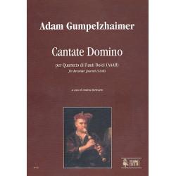 Gumpeltzhaimer, Anton: Cantate Domino : f├╝r 4 Blockfl├Âten (AAAB) Partitur und Stimmen