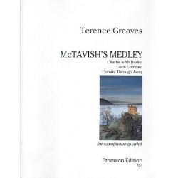 McTavish's Medley: for 4 saxophones score and parts