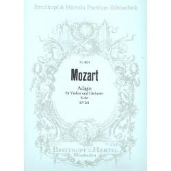 Mozart, Wolfgang Amadeus: Adagio E-Dur KV261 für Violine und Orchester Partitur