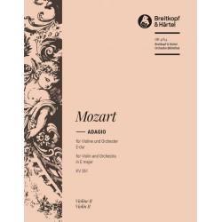 Mozart, Wolfgang Amadeus: Adagio E-Dur KV261 für Violine und Orchester Violine 2