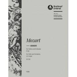 Mozart, Wolfgang Amadeus: Adagio E-Dur KV261 für Violine und Orchester Viola