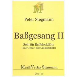 Stegmann, Peter: Baßgesang Nr.2 : für Baßblockflöte (Altblockflöte/Tenorblockflöte)