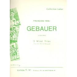 G├®bauer, Francois-R├®n├®: Trio F-Dur Nr.3 : f├╝r Klarinette, Horn und Fagott Stimmen