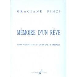 Finzi, Graciane: Mémoire d'un reve : pour trompette et 5 timbales partition et part
