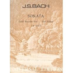 Bach, Johann Sebastian: Sonata : for treble recorder