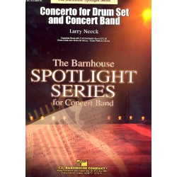 Neeck, Larry: Concerto for Drum Set and concert band score and parts