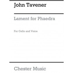 Tavener, John: Lament for Phaedra : for voice and cello score, archive copy