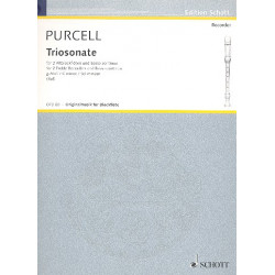 Purcell, Daniel: Triosonate g-Moll : f├╝r 2 Altblockfl├Âten und Bc