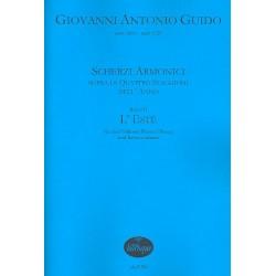 Guido, Giovanni Antonio: Scherzi armonici Band 2 - L'este : f├╝r 3 Violinen (Fl├Âten/Oboen) und Bc Partitur und Stimmen