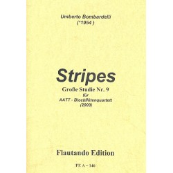 Bombardelli, Umberto: Stripes : f├╝r 4 Blockfl├Âten (AATT) 4 Spielpartituren