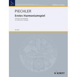 Piechler, Arthur: Erstes Harmoniumspiel (Vorschule zum Orgelspiel) : Ein methodischer Lehrgang
