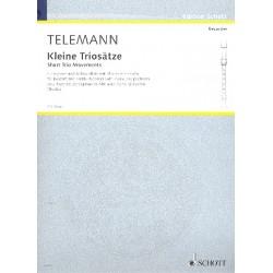 Telemann, Georg Philipp: Kleine Triosätze : für Sopran- und Altblockflöte und Klavier (Cembalo) Partitur und Bläserpartitur