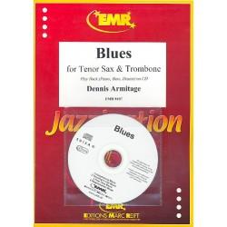 Armitage, Dennis: Blues (+CD) : für Tenorsaxophon, Posaune und Klavier