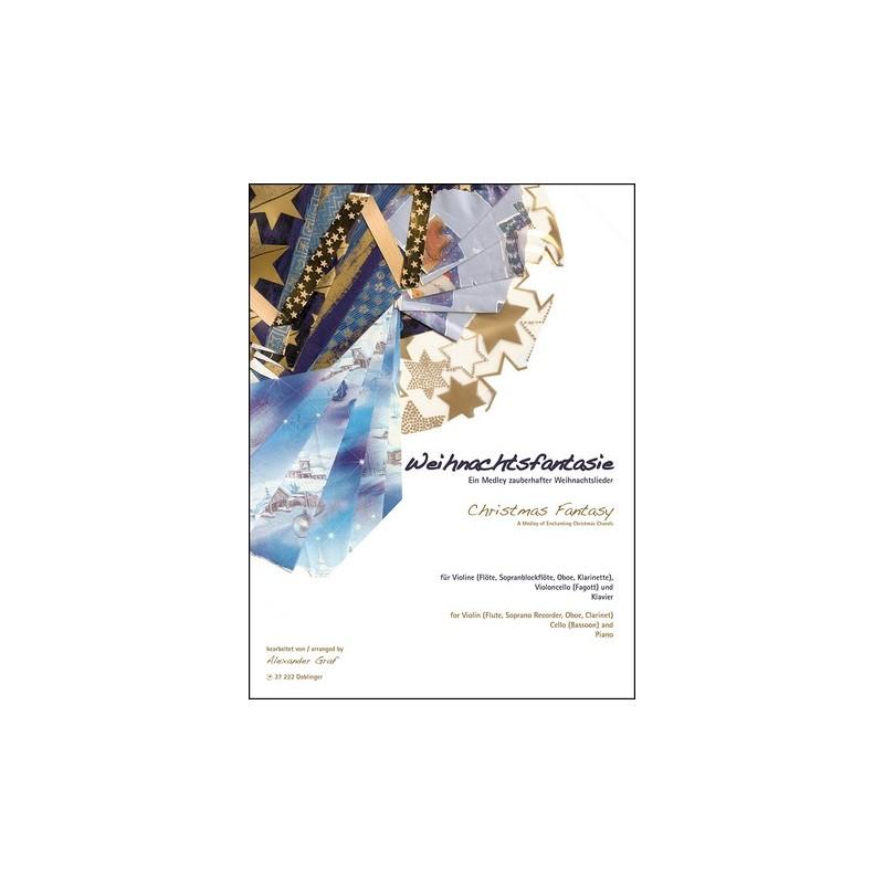 Weihnachtsfantasie (Medley) : für Violine (Melodieinstrument ...