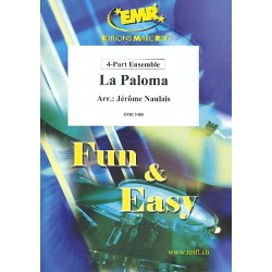 Yradier, Sebastian: La Paloma : für 4-stimmiges flexibles Ensemble (Klavier und Percussion ad lib) Partitur und Stimmen