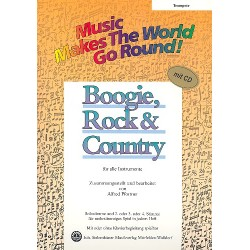 Boogie Rock and Country (+CD) : für flexibles Ensemble Trompete